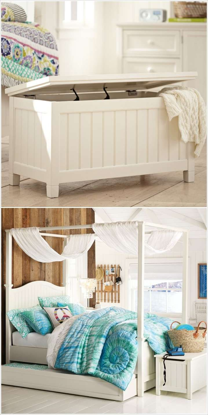 84 best storage ideas space saving images on pinterest for Creative bed ideas for small spaces