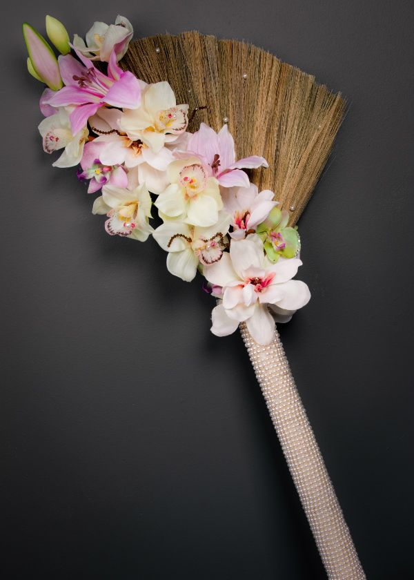 Marayah's Creations - the wildly creative designer discuss her designs which include customized wedding brooms with us!   marayahscreations.com