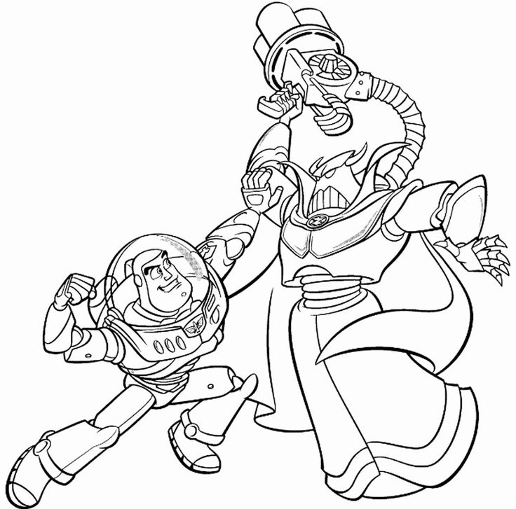 Woody And Buzz Coloring Page New Toy Story Evil Emperor Zurg