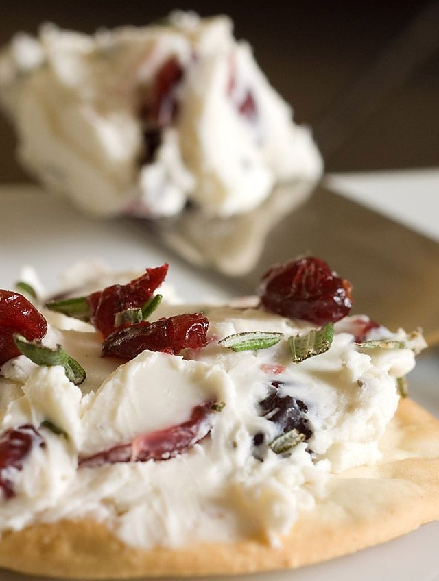 A luscious cream cheese spread with earthy rosemary and sweet dried cranberries. Perfect for your holiday celebration.