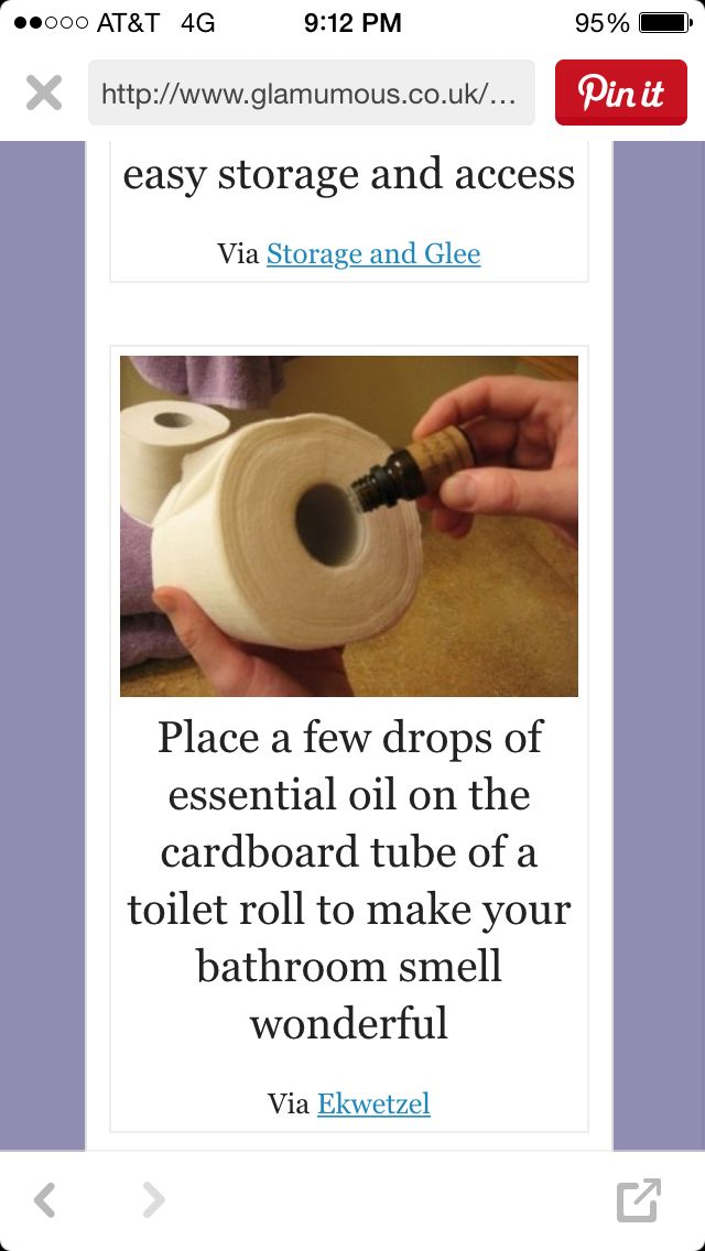 essential oil on toilet paper roll to make bathroom smell