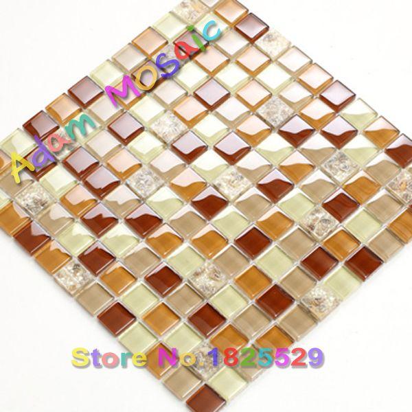 Red sea shell Piastrelle con Conchiglia naturale di Cristallo Shell Mosaico di Vetro Backsplash Cucina Marrone Beige Piastrella Per Bagno Doccia Deco