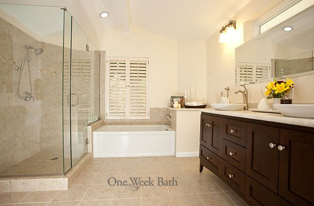 One Week Bath Remodeling Photos