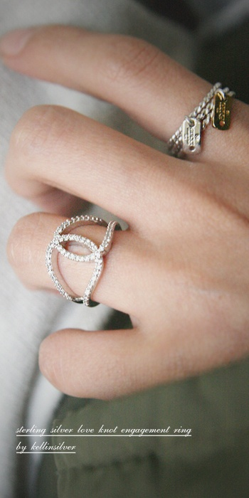 The 25 best Love knot ring ideas on Pinterest