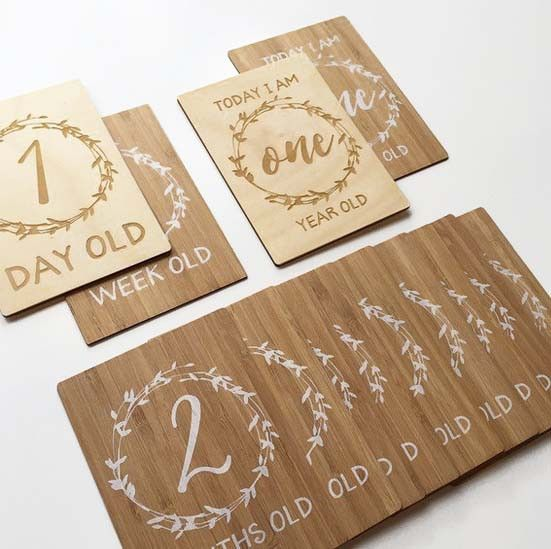 BABY MILESTONE CARDS by Arlo and Co