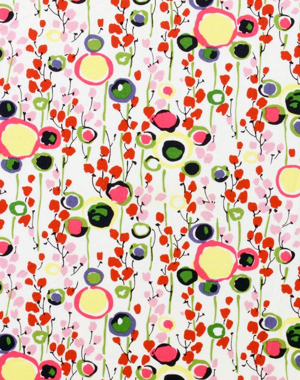 Market Floral Fabric in bright by Alexander | Tomodachi Kitty