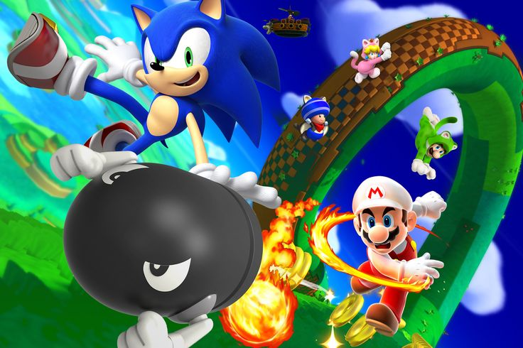 Catch Me If You Can! by 19genocide87.deviantart.com on @DeviantArt  #sonic #mario