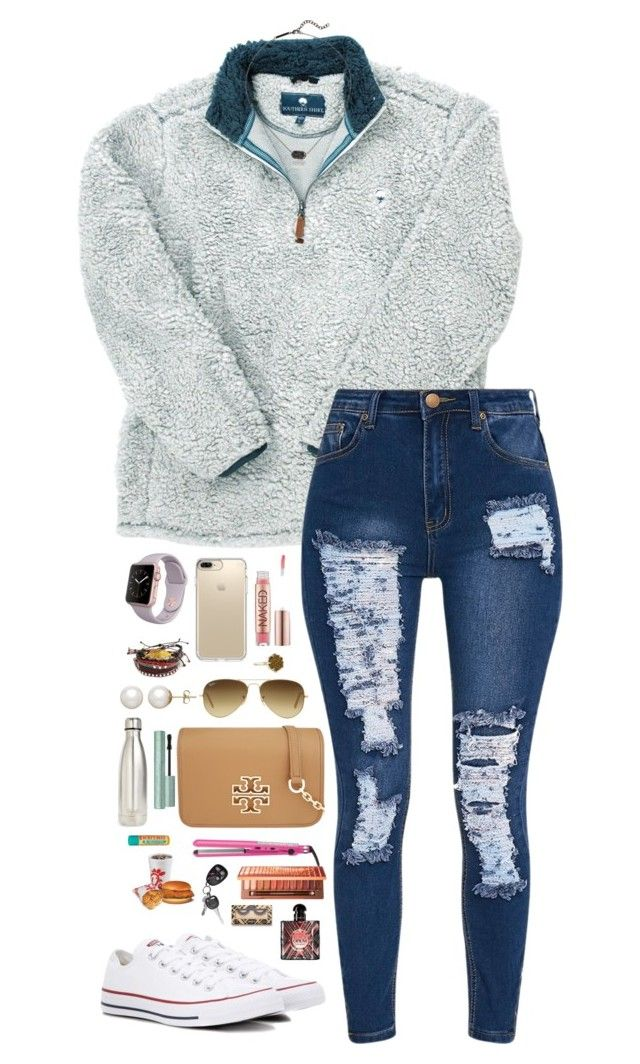 """""""not ready for school to start back!"""" by penguinfan911 ❤ liked on Polyvore featuring Kendra Scott, Converse, Speck, Urban Decay, Ray-Ban, Pura Vida, Honora, Tory Burch, S'well and Burt's Bees"""