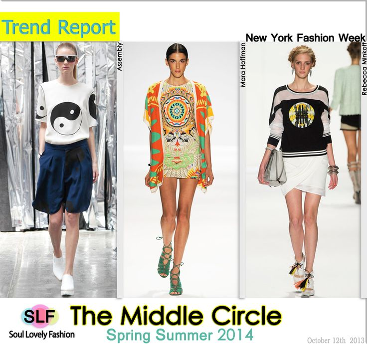 The Middle Circle Fashion Trend for Spring Summer 2014  #prints #print #fashion #spring2014 #trends #fashiontrends2014