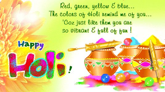 Happy Holi Messages:Here we collect some best and awesomeHappy Holi Messagesin hindi, english, free download for facebook, whastapp status.Holi is also known as festival of colors, on this day…