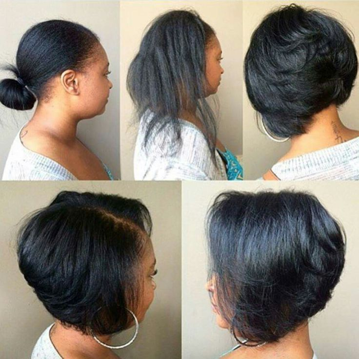 Easy Hairstyles For Medium Black Relaxed Hair : Best ideas about relaxed hair on growth