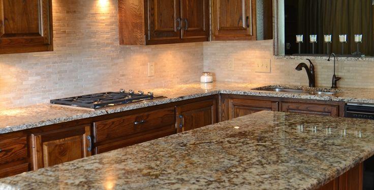 Sensa Red Terrain Granite Kitchen Countertop