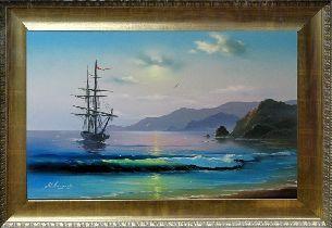 Берег моря - Морской пейзаж <- Картины маслом <- Картины - Каталог | Универсальный интернет-магазин подарков и сувениров
