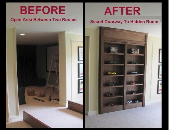 Custom Display Case With Secret Doorway To Hidden Room