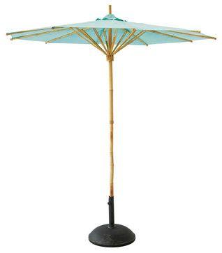 Garden - Blue bamboo garden parasol Robinson tropical-outdoor-umbrellas