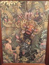 Balinese Barong Painting Original A Raka Weda Petulu Ubud Bali Rangda Vintage