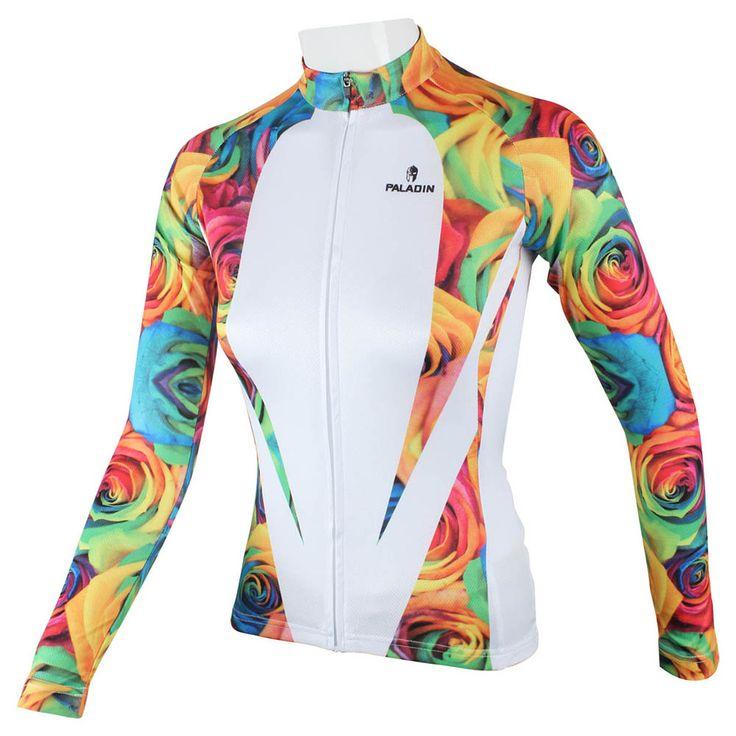 Paladino Mulheres Sportswear Respirável 100% Poliéster Camisa de Ciclismo Manga Longa Roupas Bicicleta Ao Ar Livre…
