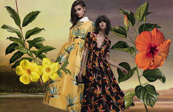 Exotica: wilde prints voor de lente van 2016 #trends #botanical #prints #patterns #SS16 #spring