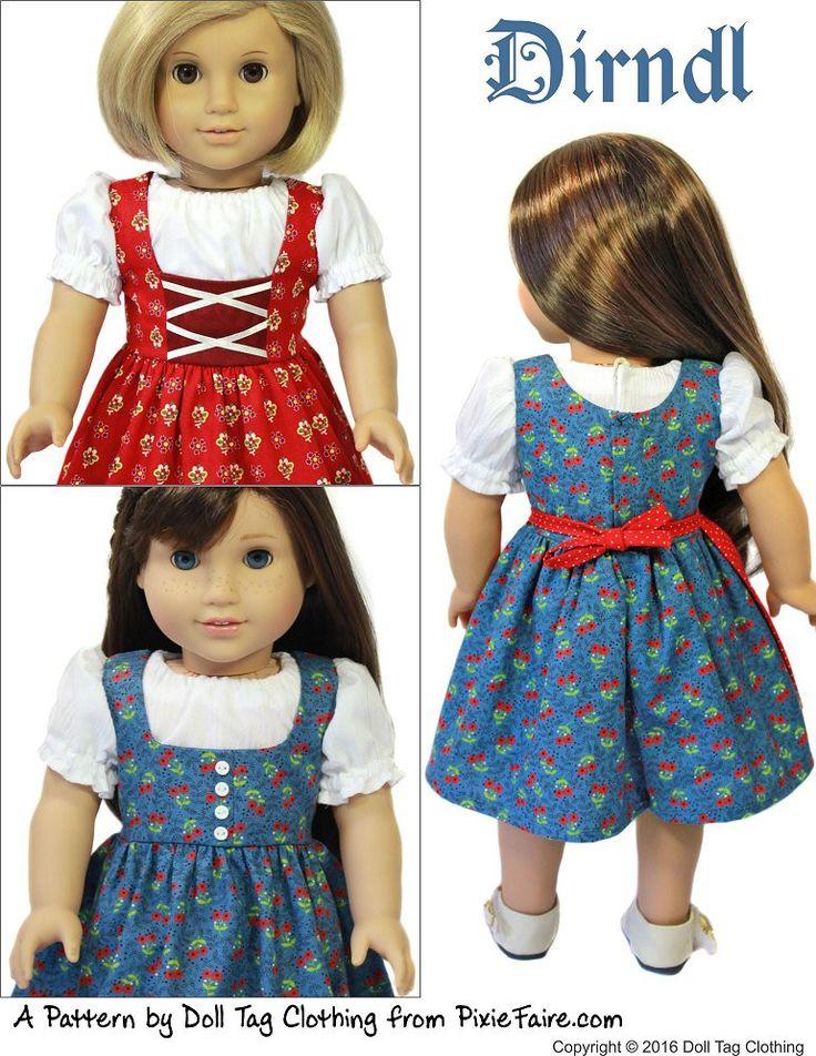 "Dirndl 18"" Doll Clothes"