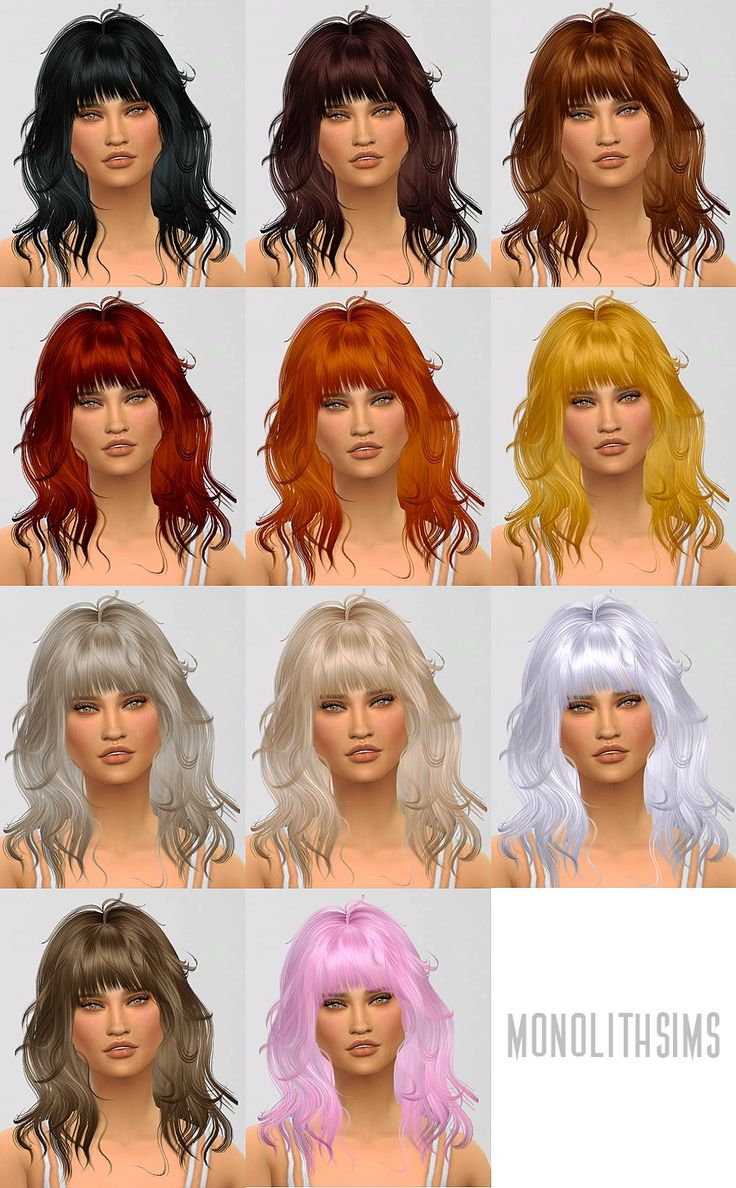 The sims freeplay long hairstyle - Monolith Sims S Retexture Edit Newsea S Hairstyle Retextured Long Hairstyles For Females Sims 4 Hairs