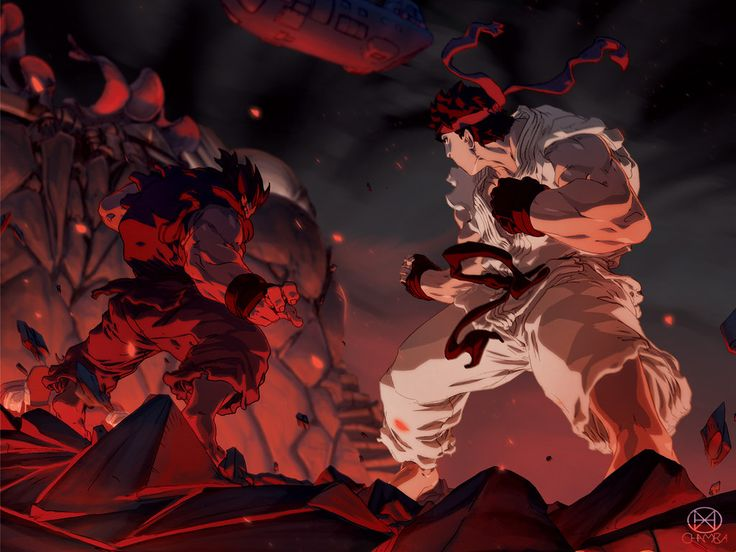 Ryu vs. Akuma - Street Fighter - Prelude To The End