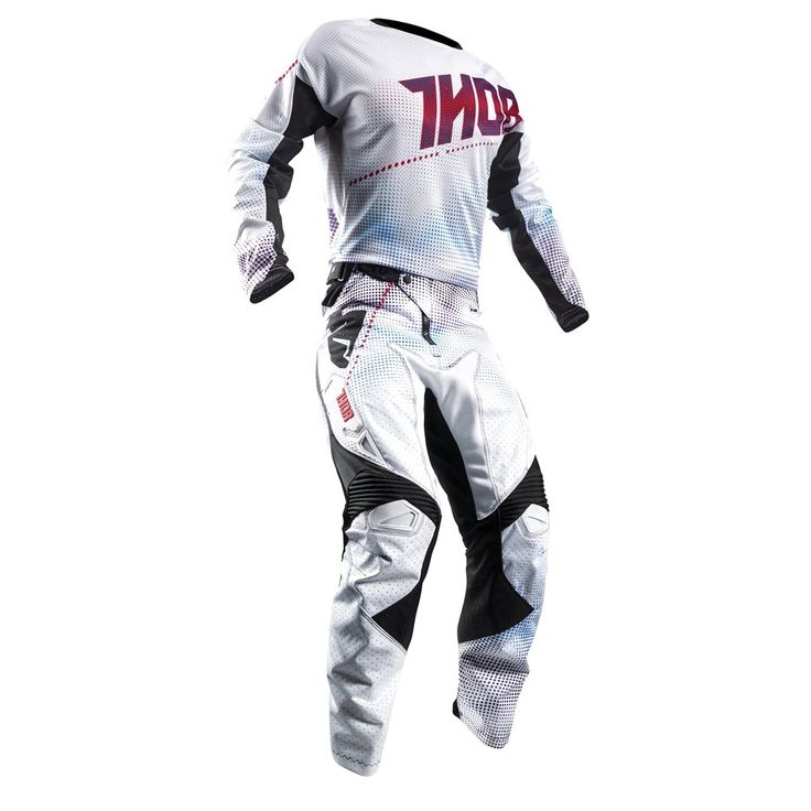 Thor 2017 Fuse Air Lit Jersey Pants Package - White/Red