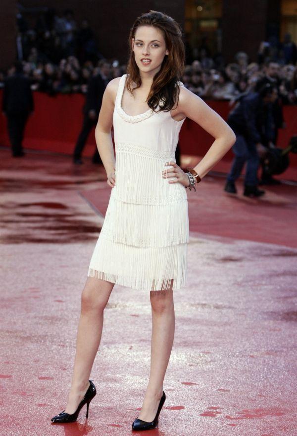 Kristen Stewart White Dress August 2017
