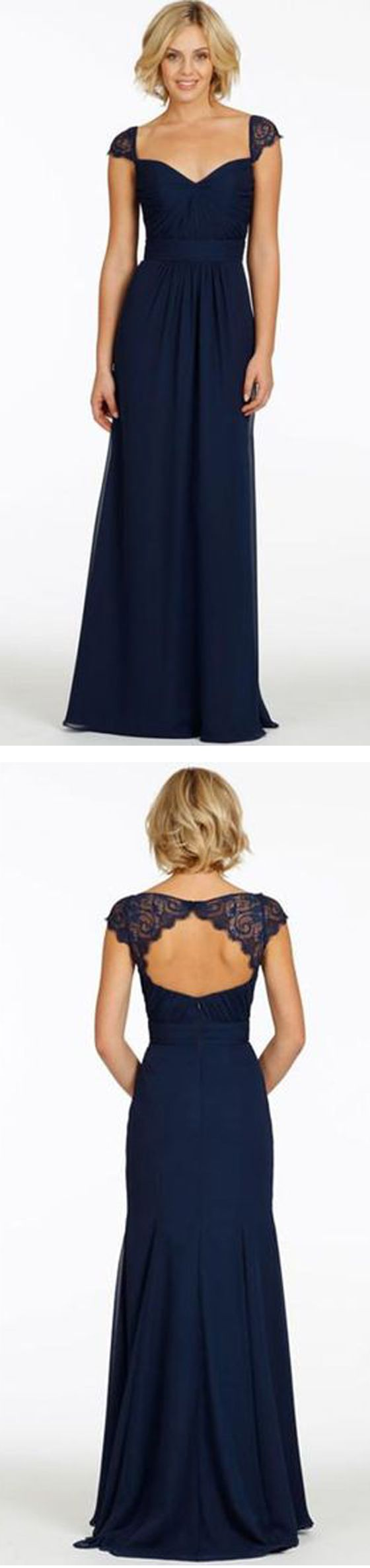 Best 20 navy bridesmaid dresses ideas on pinterestno signup long bridesmaid dresses navy bridesmaid dresses cap sleeve bridesmaid dress ombrellifo Image collections