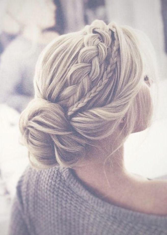Gorgeous Romantic Bridal Hairstyle Inspiration Low Bun With Two Side Braids Wedding Hairstyles Hairbraid Bridalhair Updo New Site Braided Hairstyles For Wedding Hair Styles Wedding Hairstyles Updo Messy