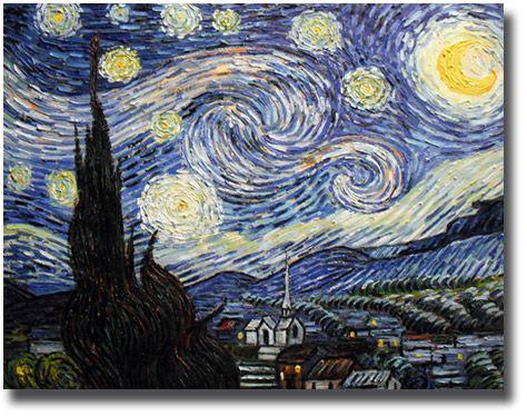 Vincent Van Gogh Ölgemälde Sternennacht |  Ölgemälde Van Gogh - Sternennacht  | Leinwandbild Van Gogh | Kunstkopie | Kunstkopien | Gemäldereplikation | Reproduktion | Alte Meister | Öl auf Leinwand | handgemalt  | Ölgemälde Alter Meister |Gemälde vom Foto | Auftragsmaler | Ölgemälde Kopien | https://www.paintify.de/de/kunstmarkt/alte-meister