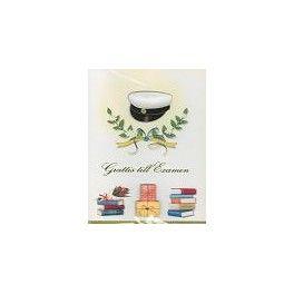 Gratulationskort Design Mössa med paket och böcker