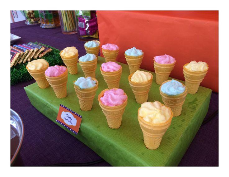 Marshmellow swirls #willywonkaparty
