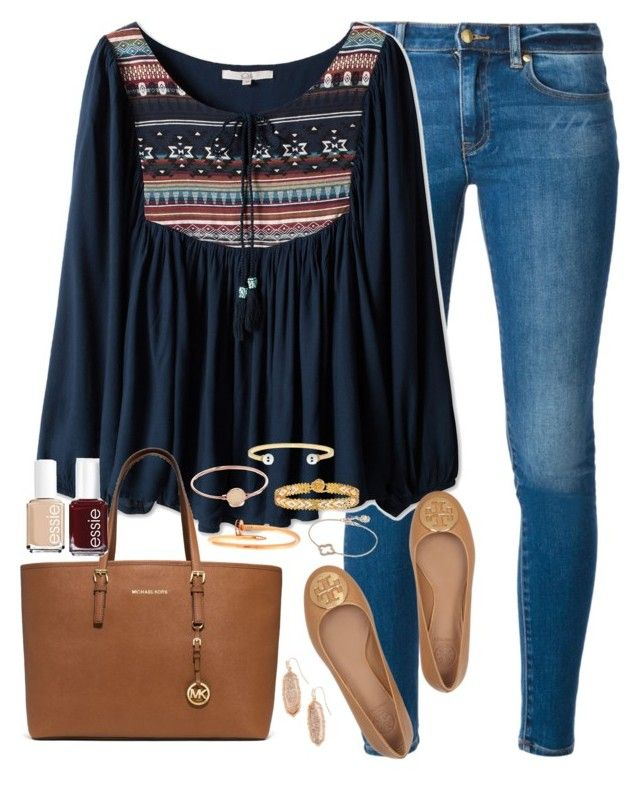 """""""Be a person you'd want to meet."""" by kaley-ii ❤ liked on Polyvore featuring MICHAEL Michael Kors, Michael Kors, Essie, Cartier, Marc by Marc Jacobs, Tory Burch, Lucky Eyes and Kendra Scott"""