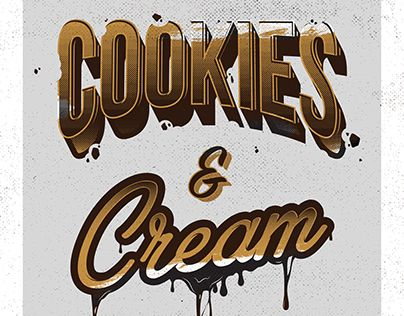 """Check out new work on my @Behance portfolio: """"Cookies & Cream Typography"""" http://be.net/gallery/36353933/Cookies-Cream-Typography"""