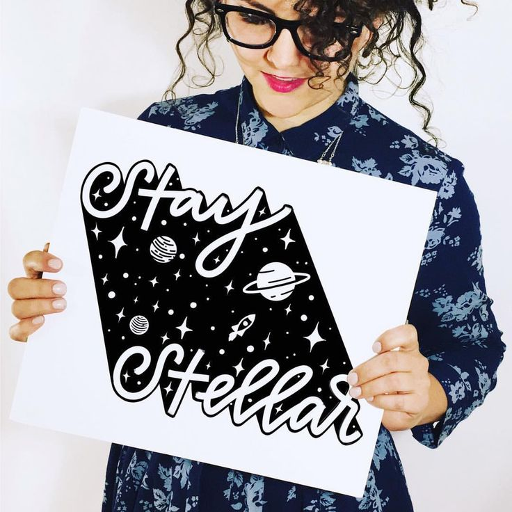 "@peteandpen on Instagram: ""✨you are stellar✨ in the spirit of the #eclipse --astronomy, space, the works-- here's a piece I…"" #handlettering #handtype #stellar #blackandwhite #illustration"