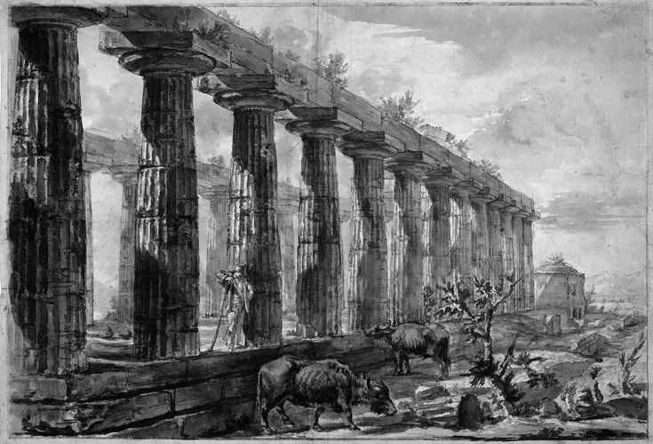 Can easily get lost in a Piranesi #etching. - Piranesi Giovanni Temple in Paestum Sun