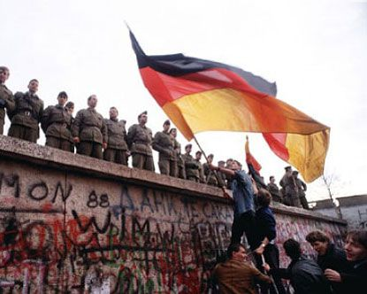 Berlin Wall. I actually have several chunks of the Berlin Wall that my family and I gathered during the celebration.