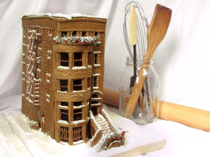 Make a gingerbread brownstone. Wow!
