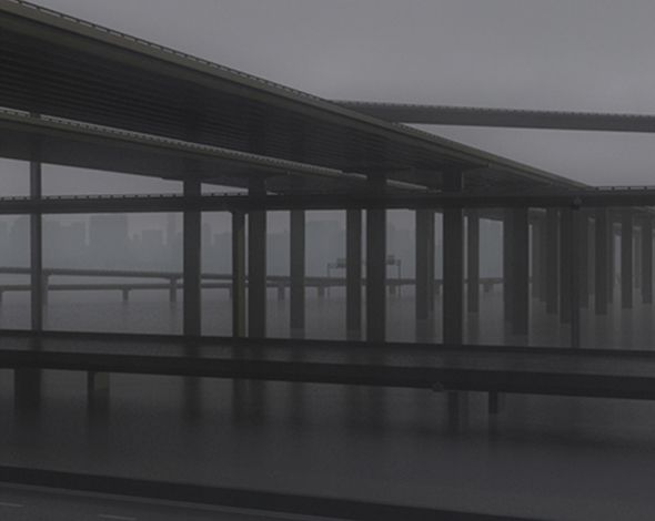 Freeway08  3D model and object for city modelling  #3D #3DModel