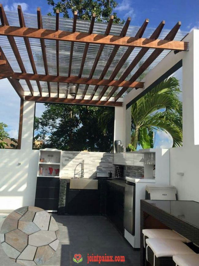 Terraced Concrete Patio And Terraced House Patio See Examples Of Terraced Backy Backy Concrete Examples In 2020 Terraced Patio Ideas Patio Design Backyard Patio