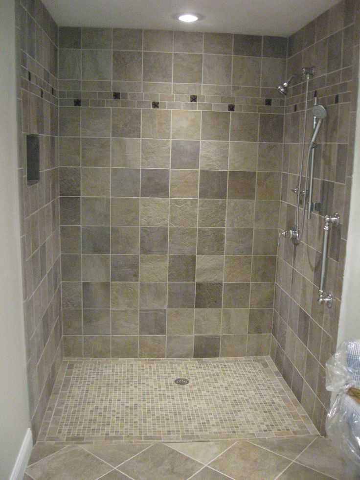 Picture Gallery Website Relieving Tiled Shower For Modern Bathroom Design Cool Chrome Polished Free Standing Head Shower Single Handle Attach At Grey Tiled Shower With White