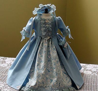 "Handmade Colonial Dress Fits 18"" American Girl Doll Felicity/Elizabeth"