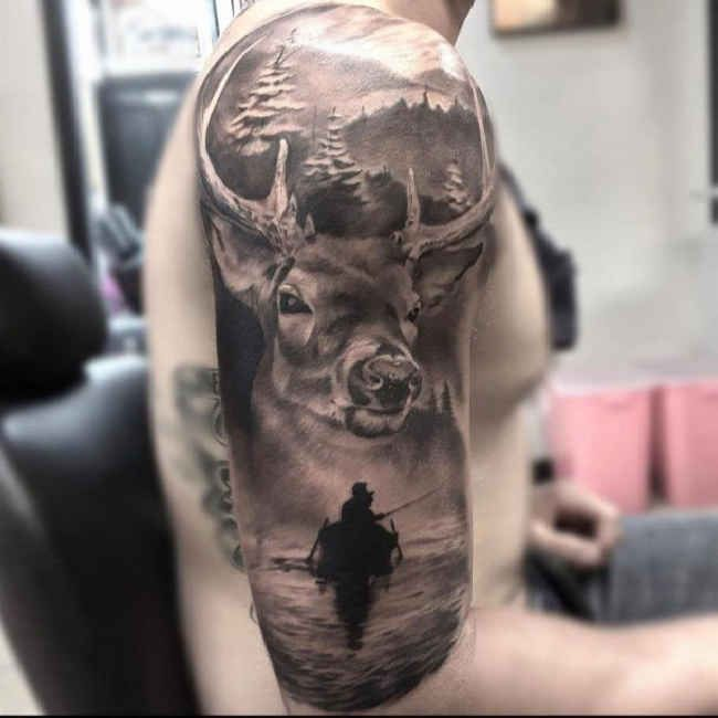 If you want to make Tattoo deer and Anglerboot yourself and you are looking for the suitable design or just interested in tattoo, then this site is for you.