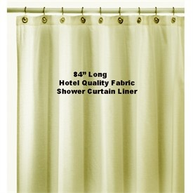 84 Extra Long Solid Hotel Water Repellent Quality Nylon Fabric Shower Curtain Liner
