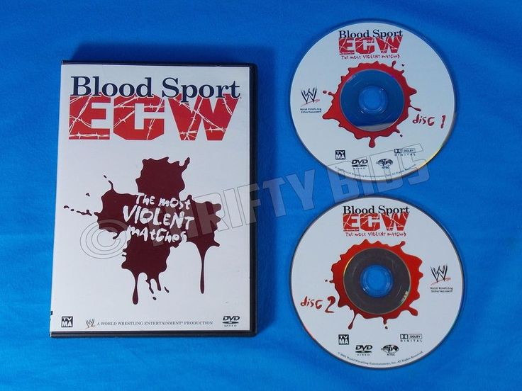 WWE Blood Sport ECW The Most Violent Matches 2 DVD Set 2006 Extreme Wrestling