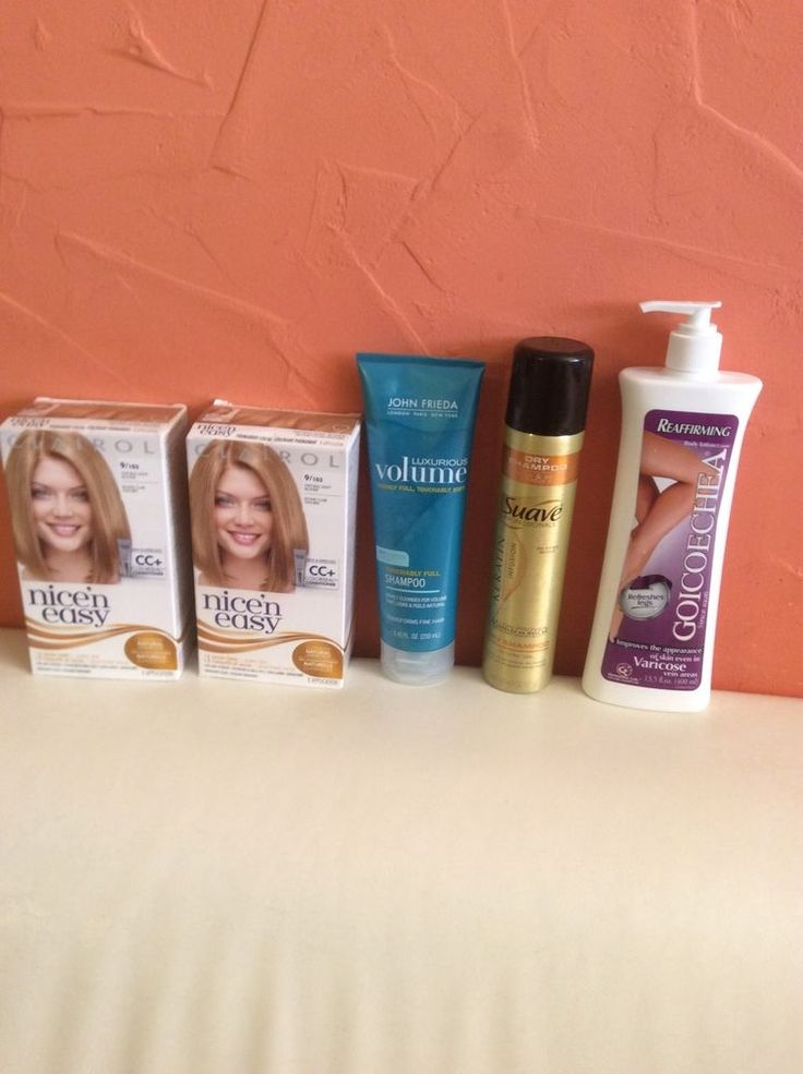 nice'n easy color 2 boxes color natural light blond +shampoo +goycochea varicosa #diferents