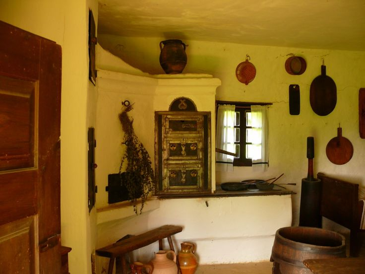 Old oven and stove in the kitchen