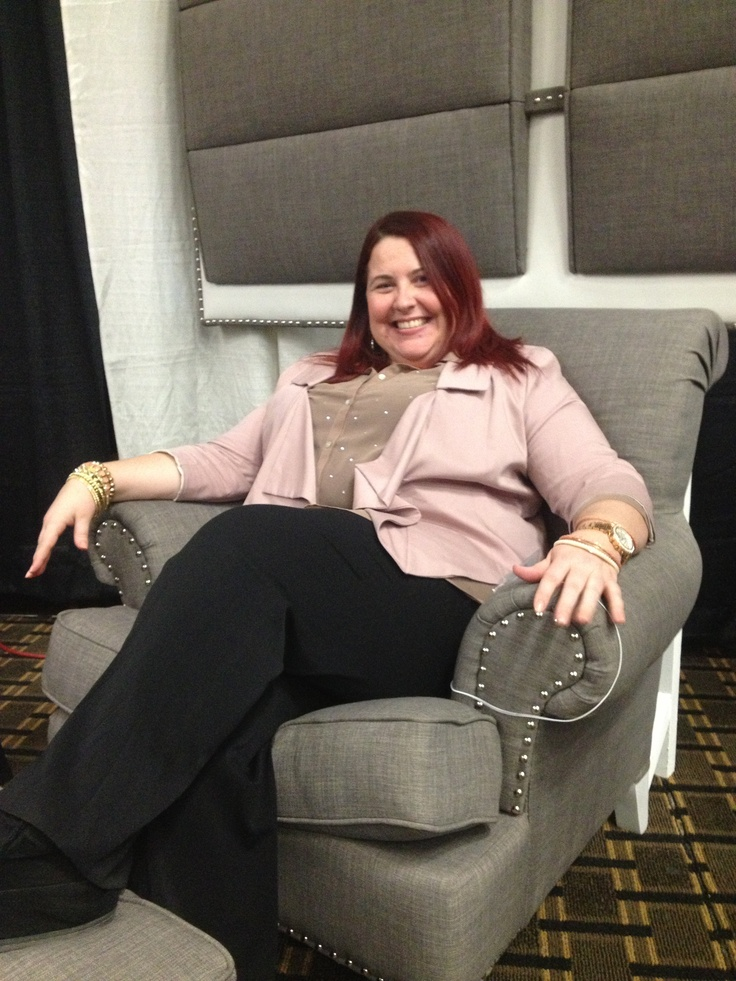 Enjoying a seat on a Berkley design at the OSEB Local Biz Expo after doing some business coaching