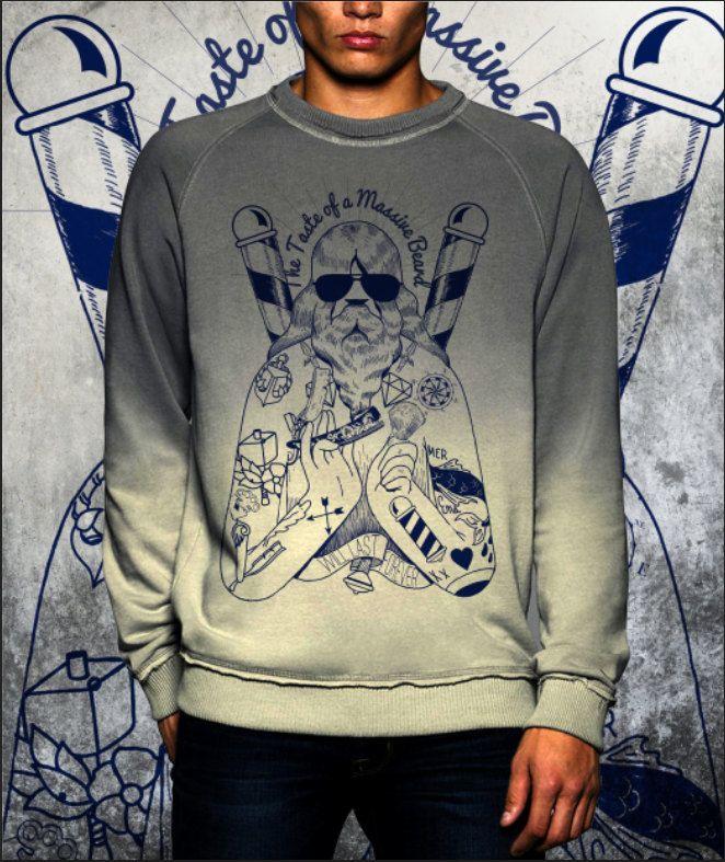 Shade grey dip dye sweatshirt new collection fashion 2017 di UnconventionalTees su Etsy