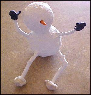 Paper Mache Snowman: Christmas Craft